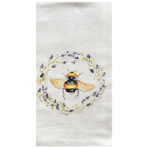 Bee and Lavender Dish Towel