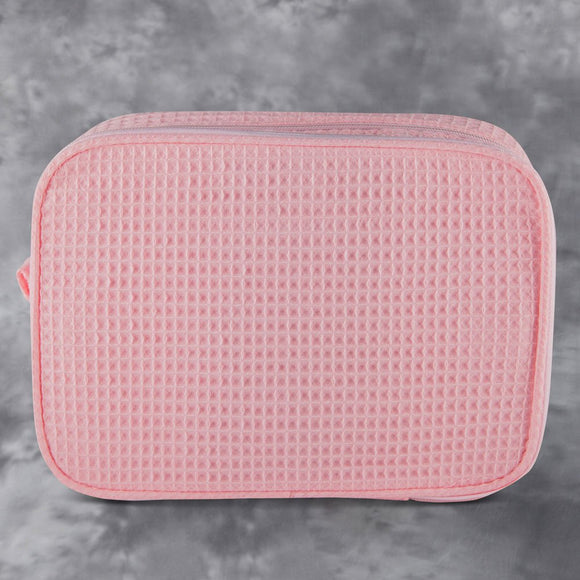 Waffle Large Makeup Bag - Blush