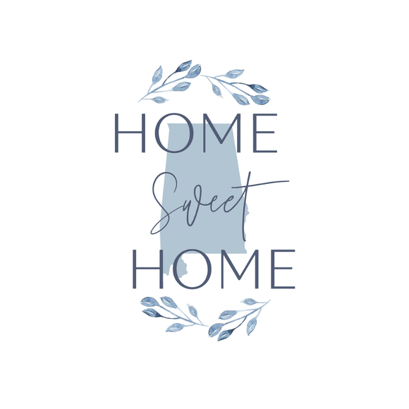 Home Sweet Home Alabama Kitchen Tea Towel