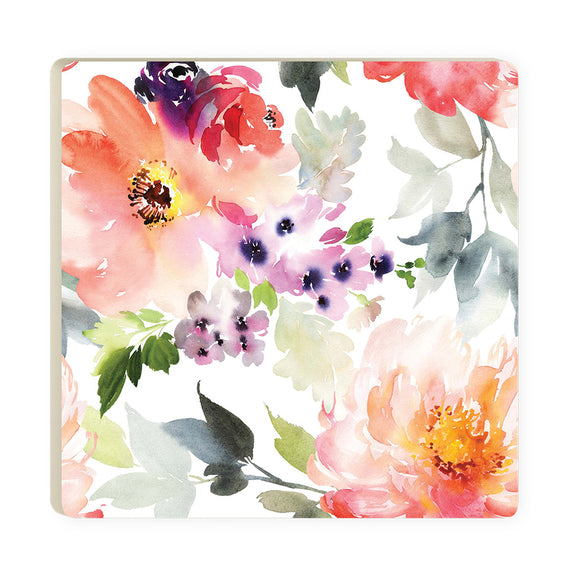 Purple & Pink Floral Coaster