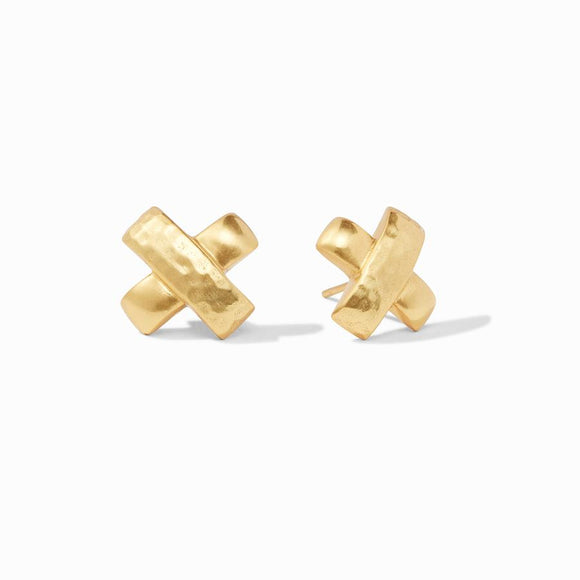 Julie Vos Catalina X Stud Earrings - Gold