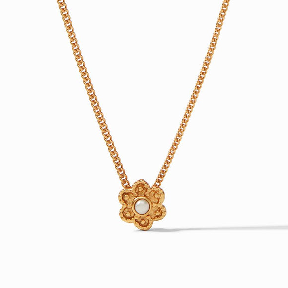 Julie Vos Colette Delicate Necklace - Gold/Pearl