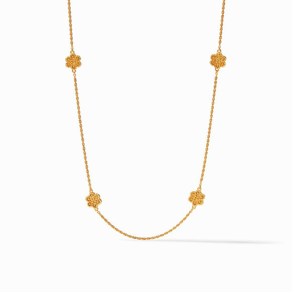 Julie Vos Colette Delicate Station Necklace - Gold