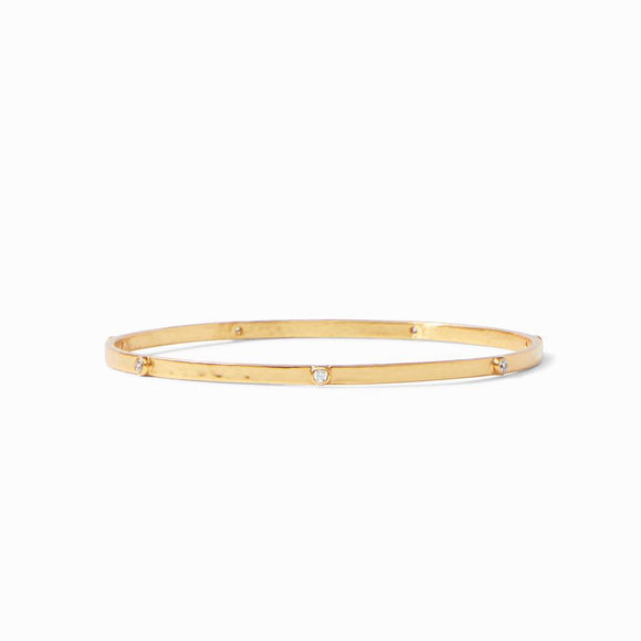Julie Vos Crescent Bangle - Cubic Zirconia/Small