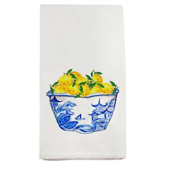 Bowl with Lemons Dish Towel