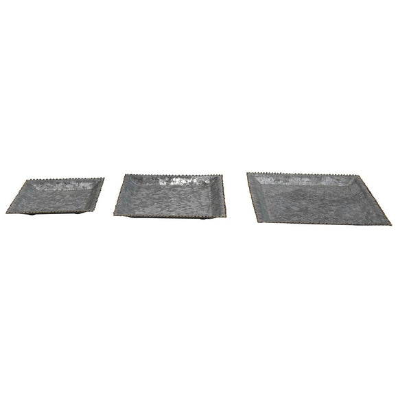 Galvanized Metal Tray Square Small