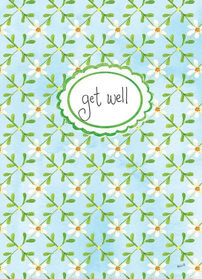 Tiny Blue Floral Get Well Card