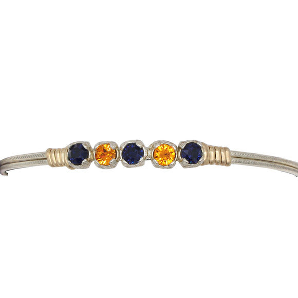 Earth Grace Orange & Blue Game Day Bracelet