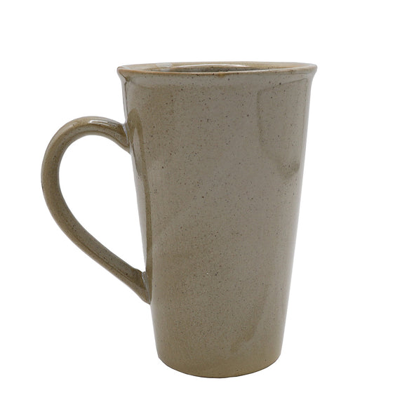 Brown Stoneware Mug With Tea Bag Slot