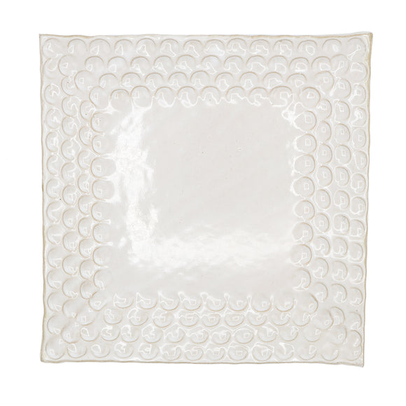 Fingerprint Square Plate - High Cotton