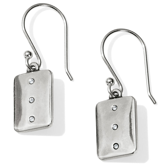 Brighton Contempo Ice Reversible Tile French Wire Earrings