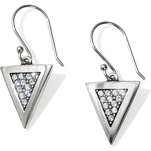 Brighton Contempo Ice Reversible Triangle French Wire Earrings