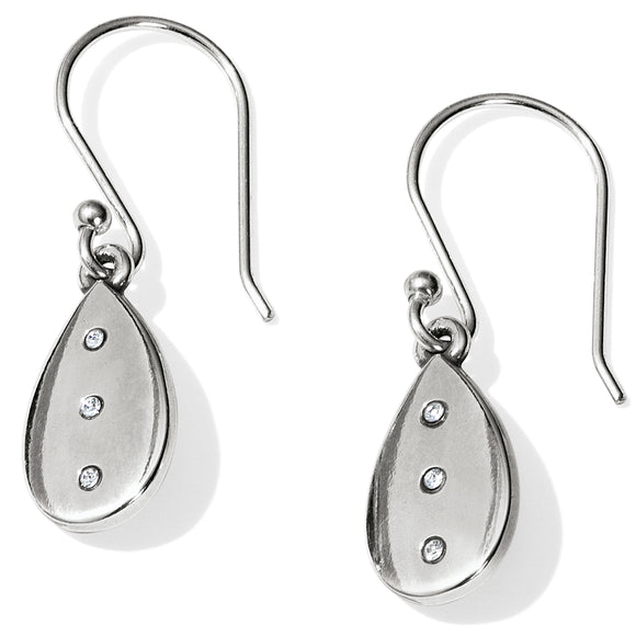 Brighton Contempo Ice Reversible Teardrop French Wire Earrings