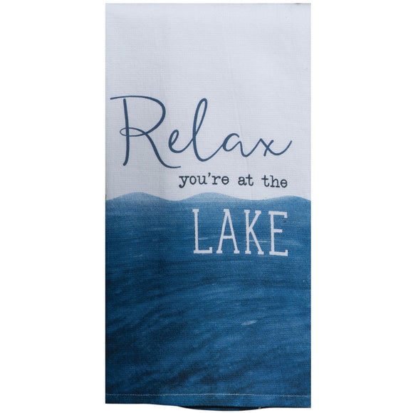 Relax at the Lake Dual Purpose Terry Towel