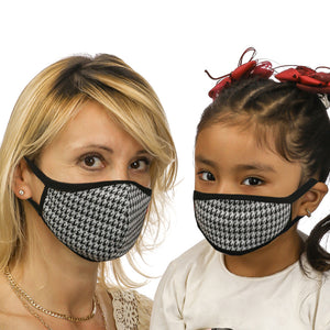 Mom &  Kid Checkered Face Mask
