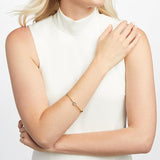 Julie Vos Milano Luxe Bangle - Pearl/Medium