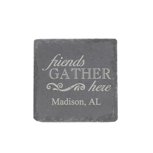 Slate Coaster Square Hometown