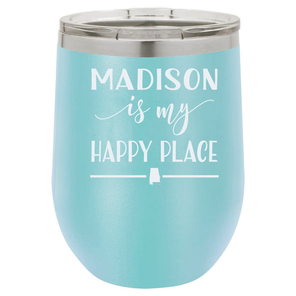 Madison 12oz Light Blue Stemless Tumbler