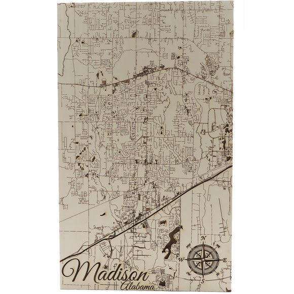 Madison Paper Blanc Schmedium Wood Wall Hanging