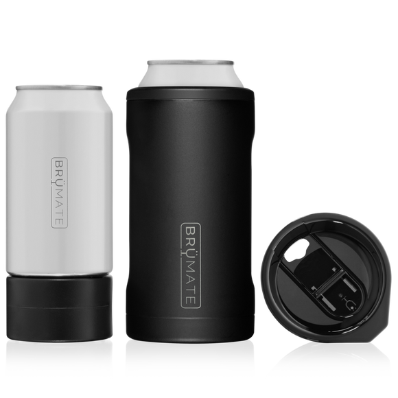 BrüMate Matte Black Hopsulator Trío 3-in-1 (16oz/12oz cans)