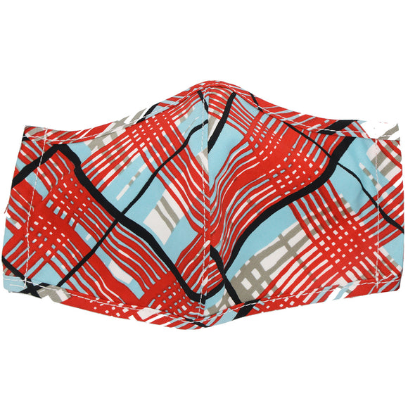 Brighton Picnic Plaid Aqua Mask