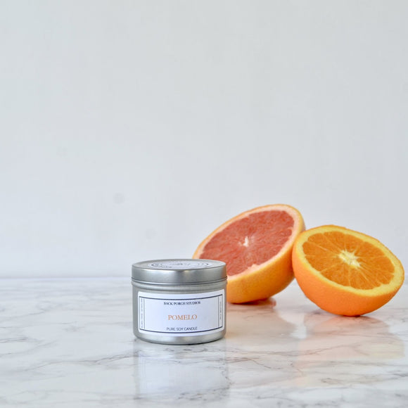 Back Porch Studios Pomelo 4oz Tin Candle