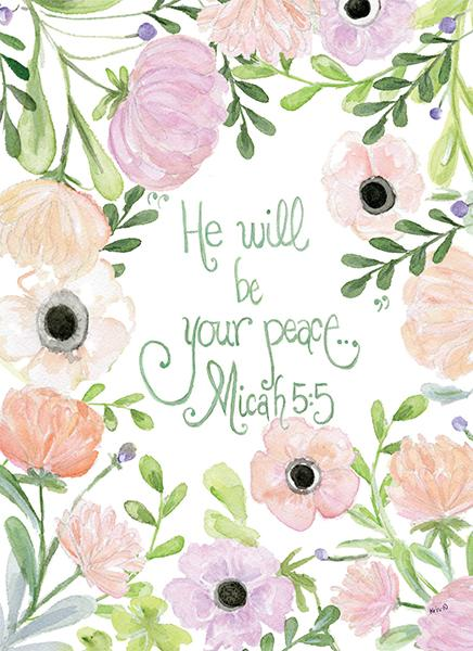 He Will Be Your Peace... Card