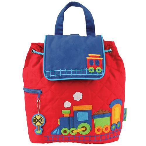 Stephen Joseph Quilted Backpack - Train