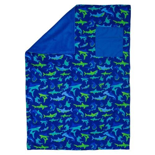 Stephen Joseph All Over Print Blanket - Shark