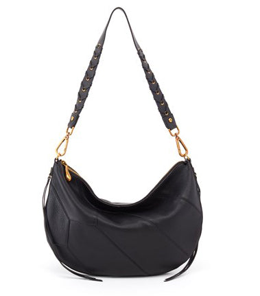 Hobo Cisco Shoulder Bag - Black Velvet Hide