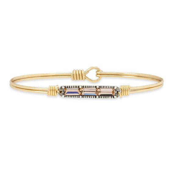 Luca + Danni Mini Regular Brass Tone Hudson Peach Bracelet