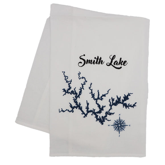 Flour Sack Towel - Smith Lake Map