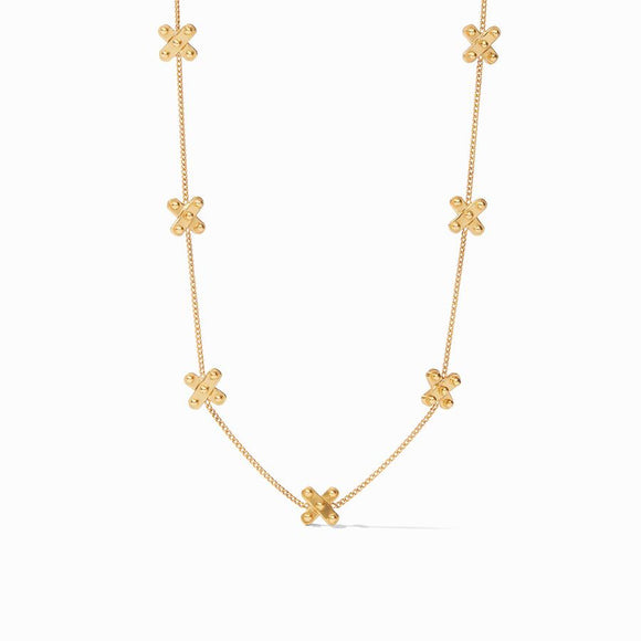 Julie Vos SoHo Delicate Station Necklace - Gold