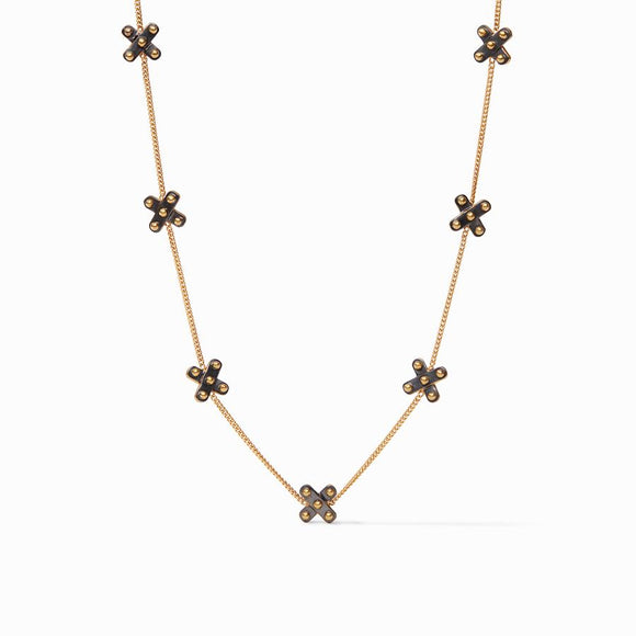 Julie Vos SoHo Delicate Station Necklace - Mixed Metal