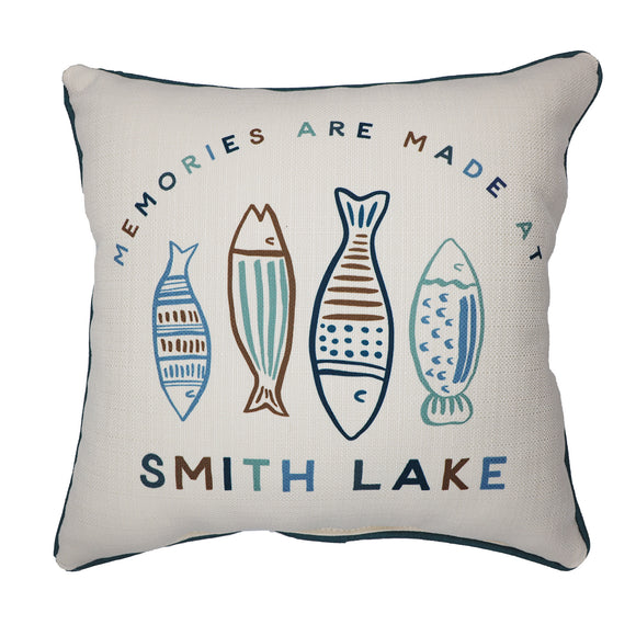 Little Birdie Pillow - Memories are Made at Smith Lake Pillow