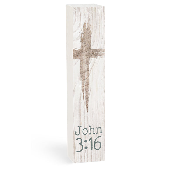 John 3:16 Vertical Block