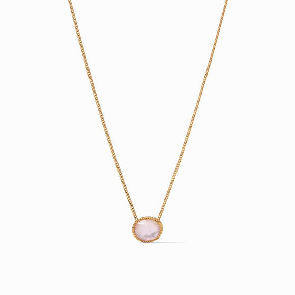 Julie Vos Verona Solitaire Necklace - Iridescent Rose