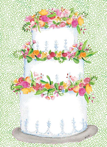 Kris-10's Creations Wedding Blessings Cake Card