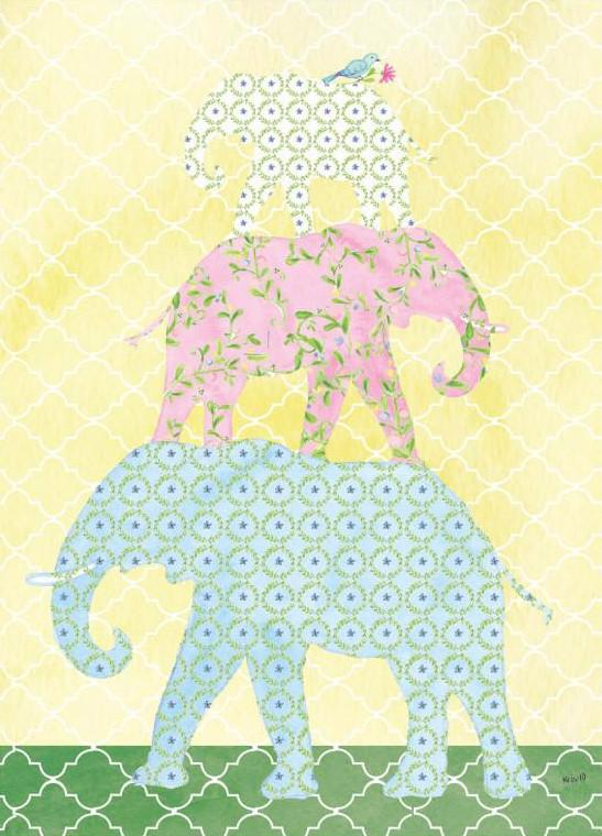 Elephant Family Baby Card