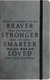 Your Are Braver Journal Grey with Pen