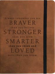 Your Are Braver Journal Tan with Pen