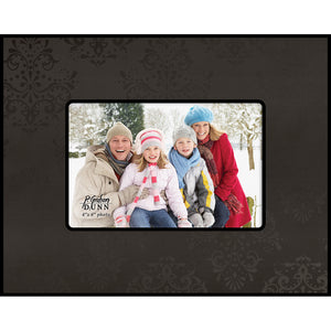 "Photo Frame 4"" x 6"" Black w/Personalization"
