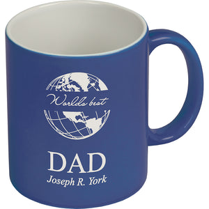 Ceramic Mug Blue w/Personalization