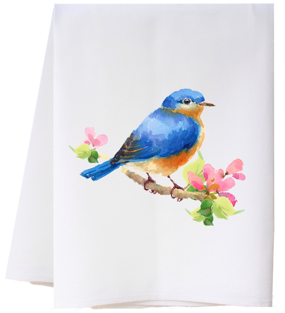 Flour Sack Towel - Bluebird