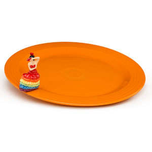 Nora Fleming  Fiesta Platter w/Dancing Lady Mini