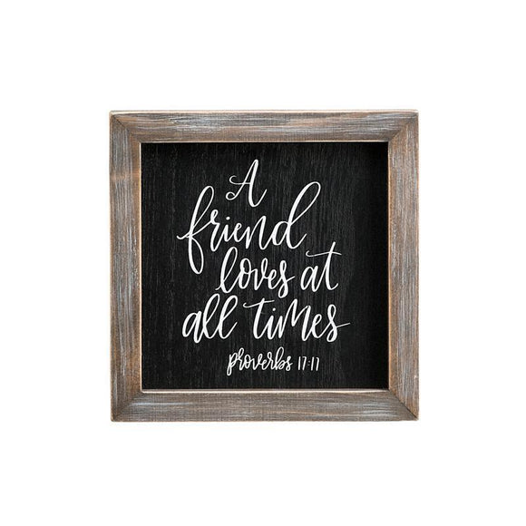Glory Haus Friend Loves All Times Framed Board