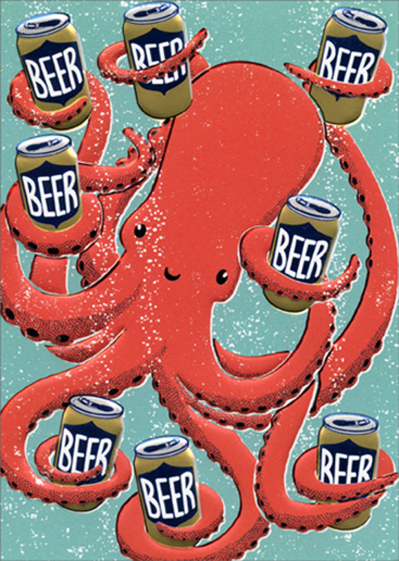 Avanti Press Octopus with Beers Card
