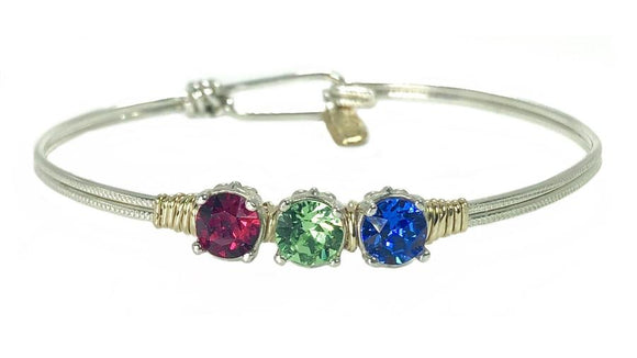 Earth Grace 5 Stones Custom Birthstone Bracelet