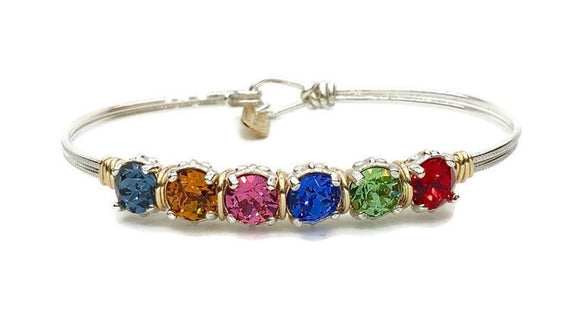Earth Grace 7 Stones Custom Birthstone Bracelet