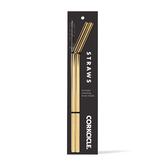 Corkcicle Gold Straws (2)